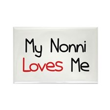 My Nonni Loves Me Rectangle Magnet