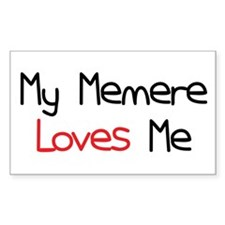 My Memere Loves Me Rectangle Decal