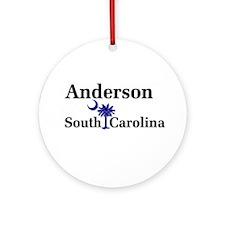 Anderson South Carolina Ornament (Round)