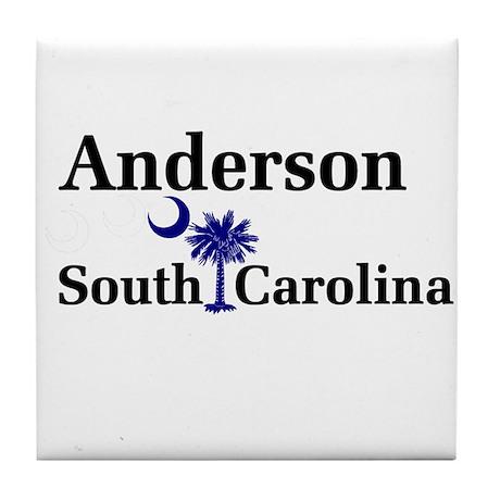 Anderson South Carolina Tile Coaster