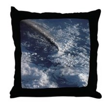 Volcano Eruption From Space II Throw Pillow