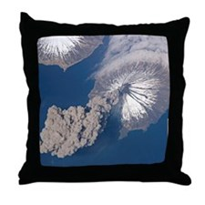 Volcano Eruption From Space Throw Pillow