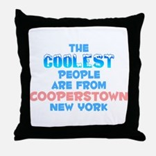 Coolest: Cooperstown, NY Throw Pillow