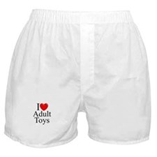 """I Love (Heart) Adult Toys"" Boxer Shorts"