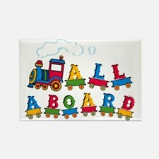 All Aboard Rectangle Magnet