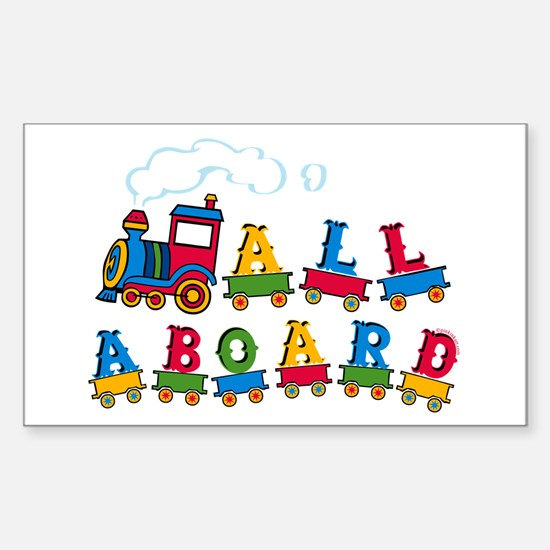 All Aboard Rectangle Decal