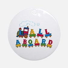 All Aboard Ornament (Round)