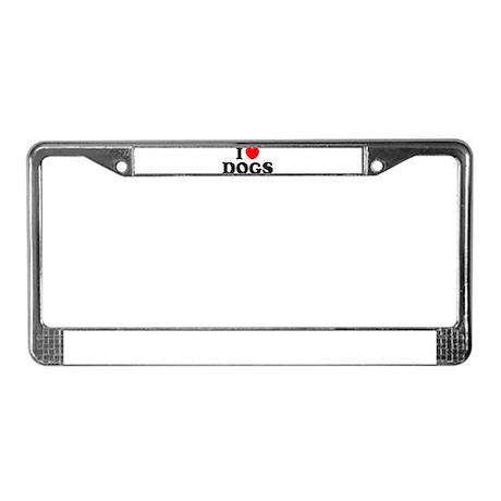 I Heart Dogs License Plate Frame