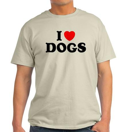 I Heart Dogs Light T-Shirt