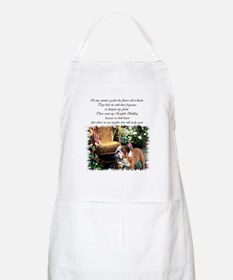 English Bulldog Art BBQ Apron