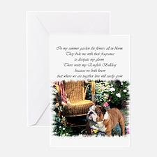 English Bulldog Art Greeting Card