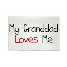 My Granddad Loves Me Rectangle Magnet