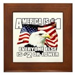 AMERICA IS #1 Framed Tile