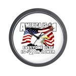 AMERICA IS #1 Wall Clock