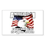 AMERICA IS #1 Rectangle Sticker
