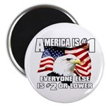 "AMERICA IS #1 2.25"" Magnet (100 pack)"