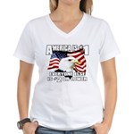 AMERICA IS #1 Women's V-Neck T-Shirt