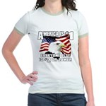AMERICA IS #1 Jr. Ringer T-Shirt