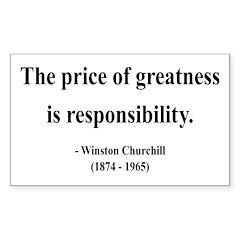 Winston Churchill 18 Rectangle Decal