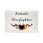 Female Firefighter Rectangle Magnet (10 pack)