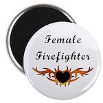 Female Firefighter Magnet