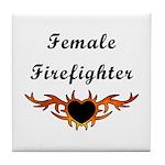 Female Firefighter Tile Coaster