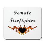 Female Firefighter Mousepad