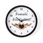 Female Firefighter Wall Clock