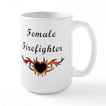 Female Firefighter Large Mug