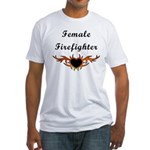 Female Firefighter Fitted T-Shirt