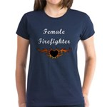 Female Firefighter Women's Dark T-Shirt