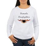 Female Firefighter Women's Long Sleeve T-Shirt