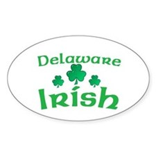 Delaware Irish Shamrocks Oval Decal