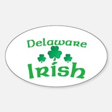 Delaware Irish Shamrocks Oval Decal
