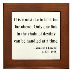 Winston Churchill 19 Framed Tile