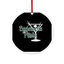 Green Martini Bachelorette Party Ornament (Round)