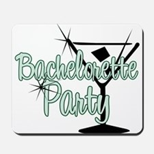 Green Martini Bachelorette Party Mousepad