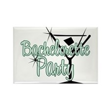 Green Martini Bachelorette Party Rectangle Magnet