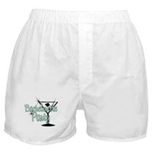 Green Martini Bachelorette Party Boxer Shorts