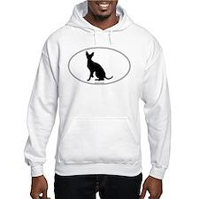Cornish Rex Silhouette Hoodie Sweatshirt