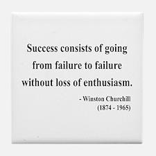Winston Churchill 21 Tile Coaster