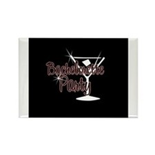 Red Martini Bachelorette Part Rectangle Magnet