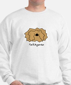 Cartoon Pekingese Sweatshirt