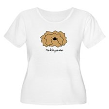 Cartoon Pekingese Women's Plus Size T-Shirt