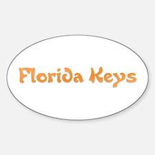 Florida Keys Oval Decal