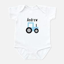 Andrew - Baby Blue Tractor Infant Bodysuit