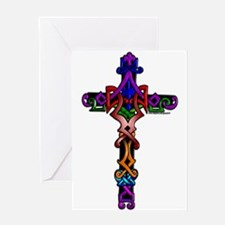Colored Cross Greeting Card