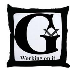 The Reversed Masonic G Throw Pillow