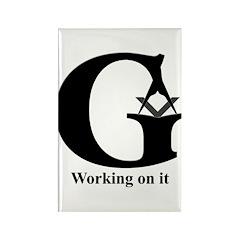 The Reversed Masonic G Rectangle Magnet (10 pack)