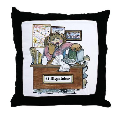 School Bus Dispatcher Female Throw Pillow